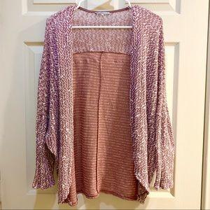 CHARLOTTE RUSSE Mauve Sweater Knit Cardigan Size S